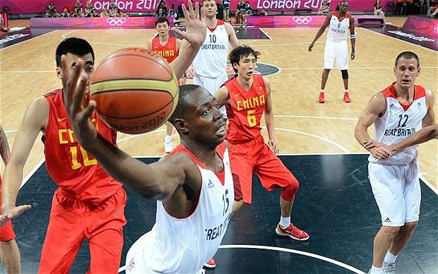 Britain v China basketball London 2012