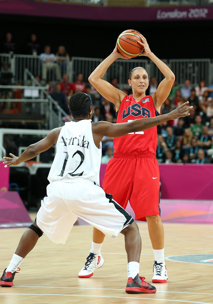 Diane Taurasi in action London 2012