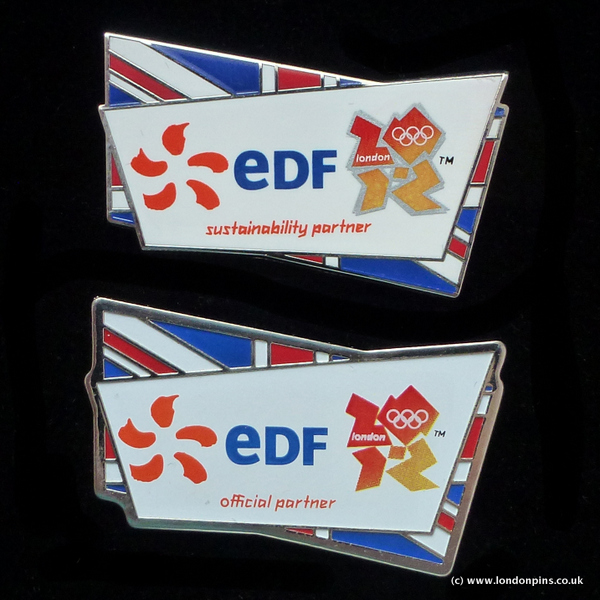 EDF sustainability and official partner pin