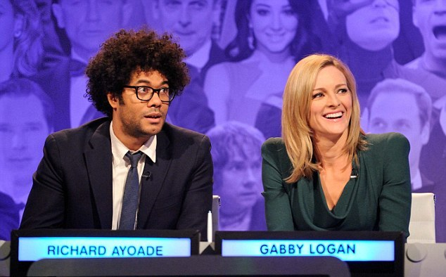 Gabby Logan appeared on the Big Fat Quiz of the Year