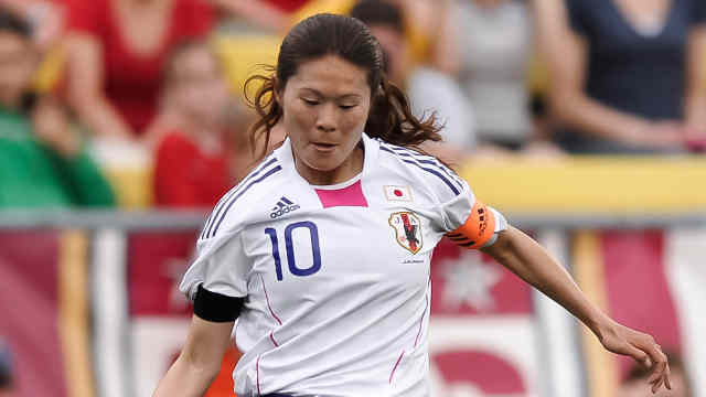 Homare Sawa in action