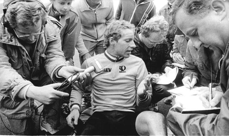 Johannes Draaijer being interviewed