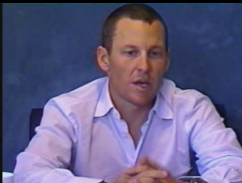 Lance Armstrong during SCA arbitration hearing