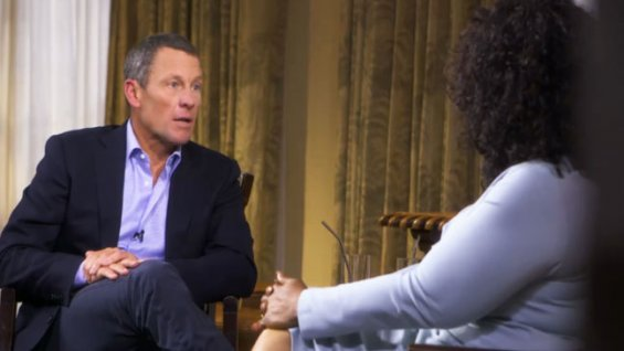 Lance Armstrong on Oprah Winfrey January 18 2012