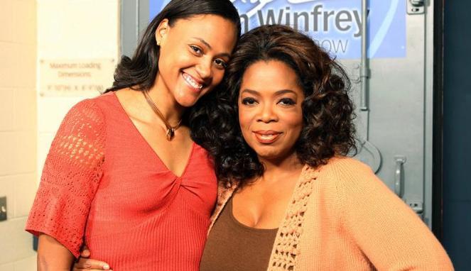 Marion Jones with Oprah Winfrey