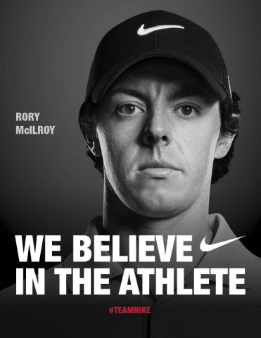 Rory McIlroy Nike advert