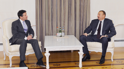 Sebastian Coe meets President Aliyeva in Baku January 21 2013