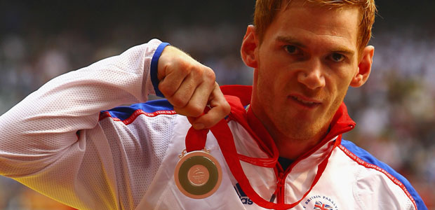 Stephen Miller with silver medal from Beijing 2008