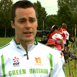 Toby Radcliffe worked alongside the BPA and EDF to impart his sustainability knowledge at the camp