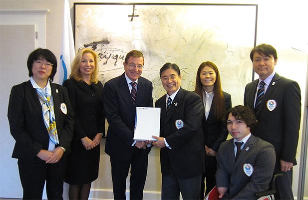 Tokyo 2020 hand over bid to IOC Lausanne January 7 2013