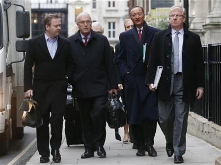 UCI President Pat McQuaid arrives for an Independent Commission hearing in London January 25