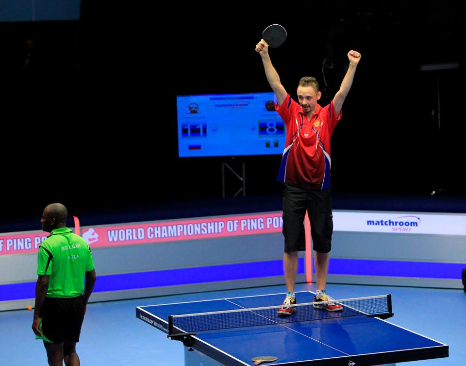 World Championship of Ping Pong action