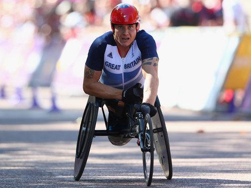 David Weir in marathon at London 2012