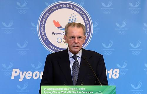 Jacques Rogge in Seoul January 30 2013