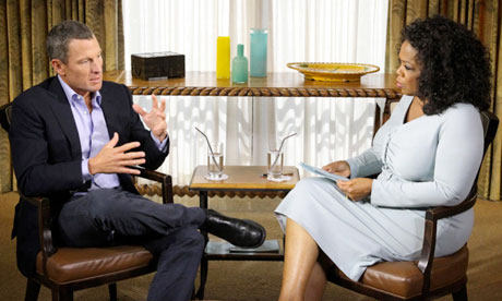 Lance Armstrong interviewed by Oprah Winfrey January 14 2013