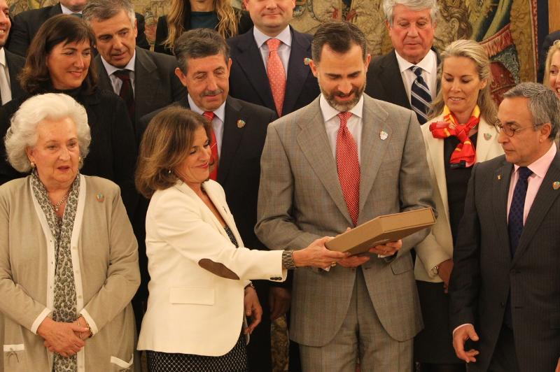 Prince Felipe receives Madrid 2020 candidature file