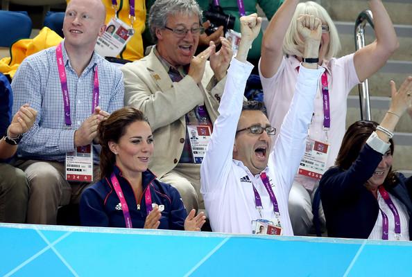 Tim Hollingsworth next to Kate Middleton at London 2012