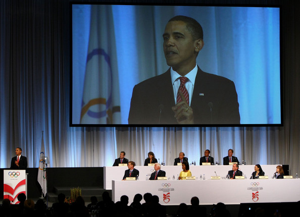 Barack Obama addressing IOC Copenhagen October 2 2009