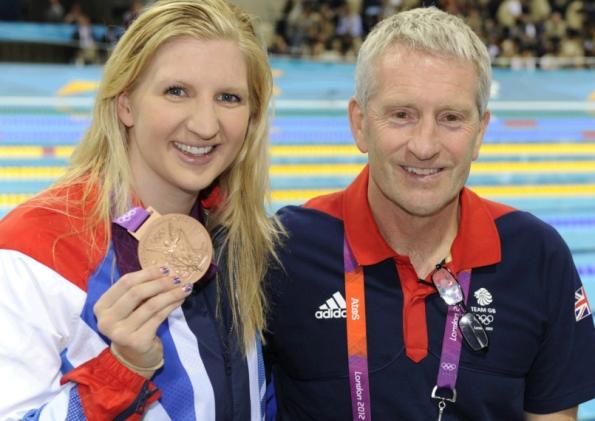 Bill Furniss and Becky Adlington