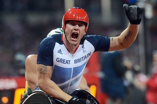 David Weir celebrates at London 2012