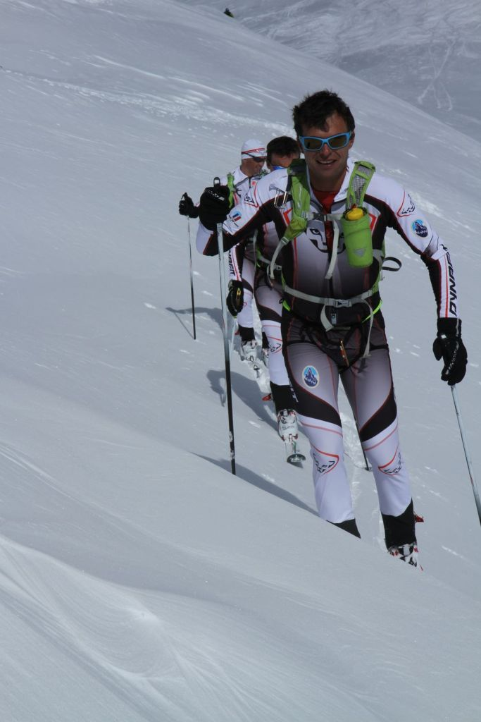 French military ski mountaineering team training in Chamonix Mont-Blanc
