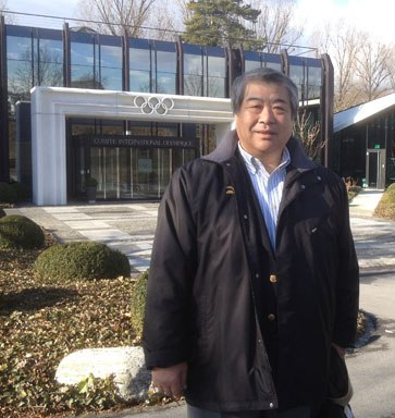 Haruki Uemura outside IOC