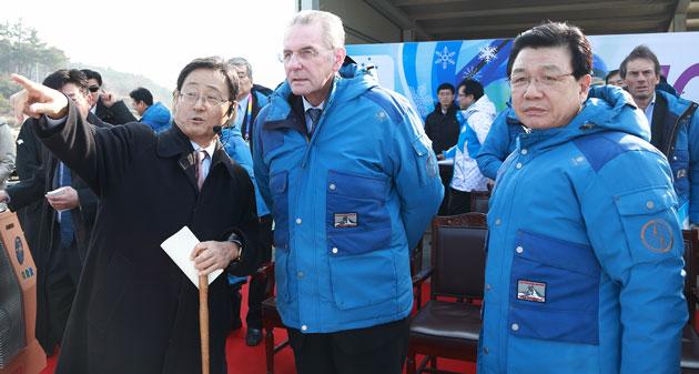Jacques Rogge in Pyeongchang February 1 2013