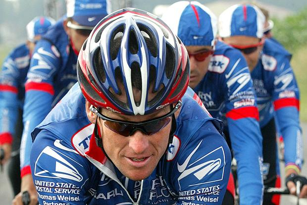 Lance Armstrong in US Postal kit
