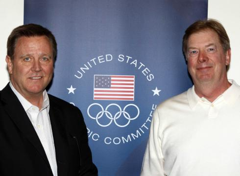 Larry Probst and chief executive Scott Blackmun L