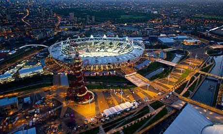 London 2012 Olympic Park at night