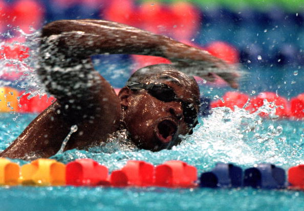 Moussambani completed the swim in atime of 1 52 72 over a minute behind the World Record for the distance