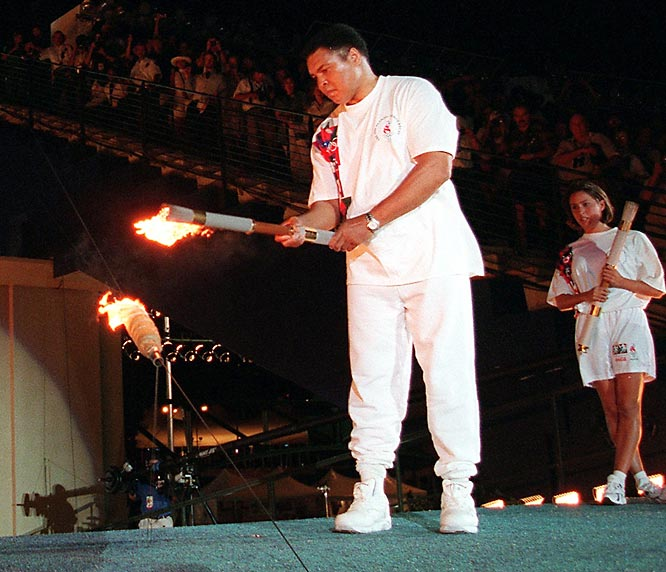 Muhammad Ali lights Olympic torch Atlanta 1996
