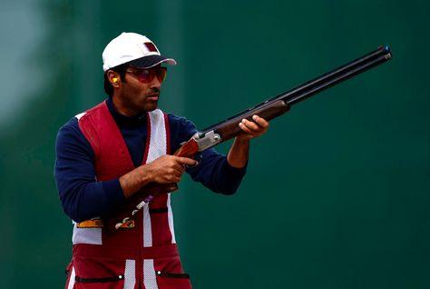 Nasser Al-Attiyah with gun