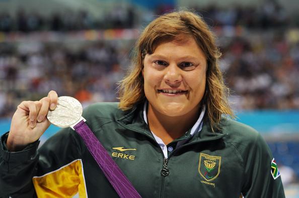 Natalie du Toit with London 2012 gold medal