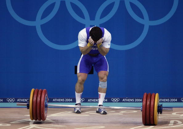 Oleg Perepetchenov during competition Athens 2004
