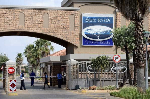 Oscar Pistorius estate Pretoria February 14 2013