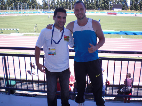 Oscar Pistorius pic with me