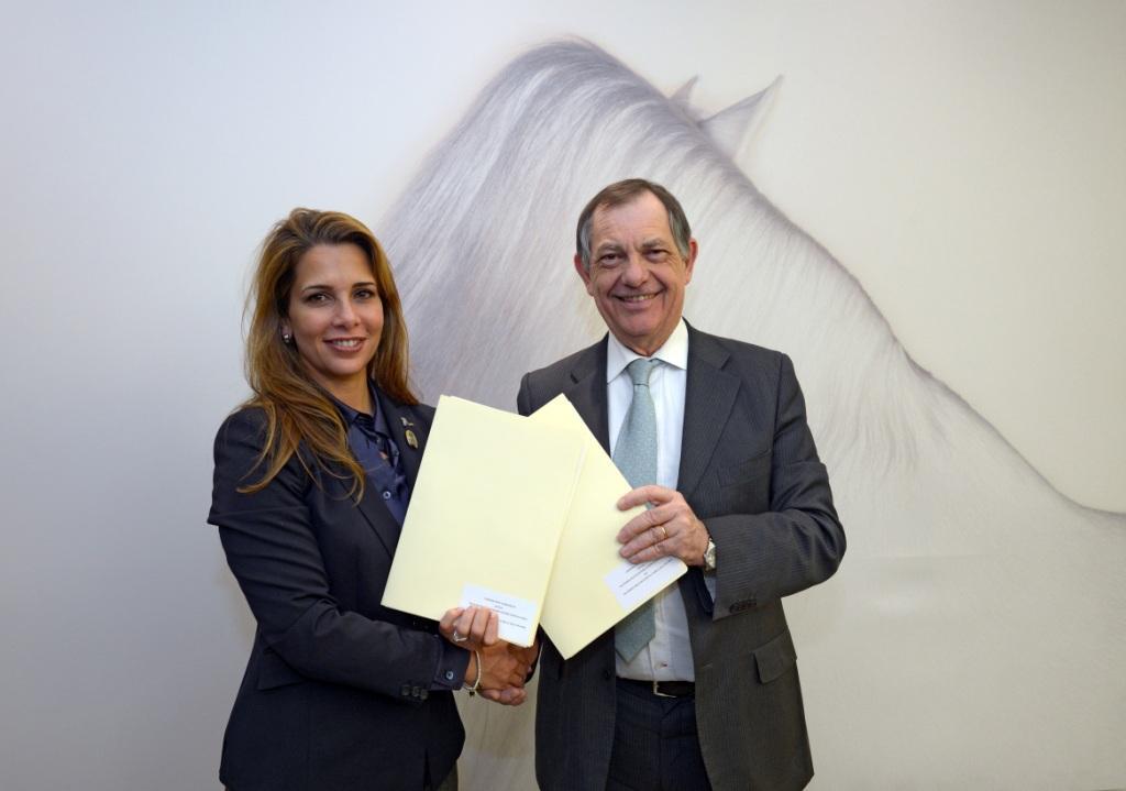 Princess Haya and Bernard Vallat 260213