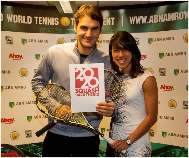 Roger Federer and Nicol David