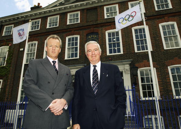 Simon Clegg with Craig Reedie outside BOA HQ