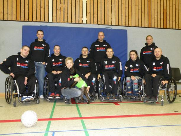 The Czech Republics wheelchair rugby team is celebrating its 20th anniversary in the sport