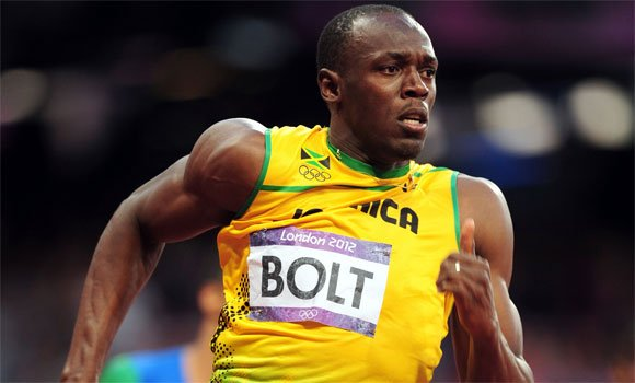 Usain Bolt running at London 2012