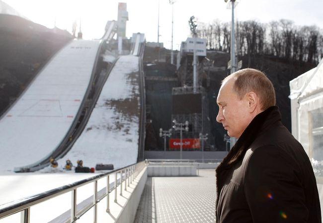 Vladimir Putin at RusSki Gorki Jumping Center February 6 2013
