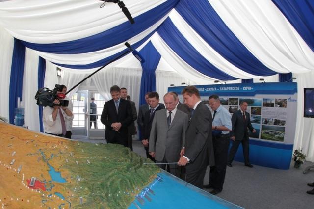 Vladimir Putin inspecting Sochi 2014 facilities
