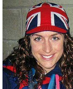 Amy Williams head and shoulders