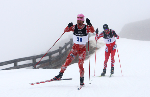 Brian McKeever skiing