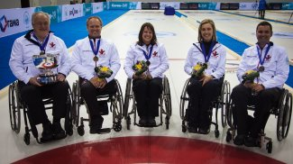 Canada World Wheelchair Curling Championship gold medallists