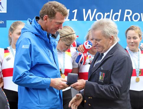 Denis Oswald at London 2012 rowing