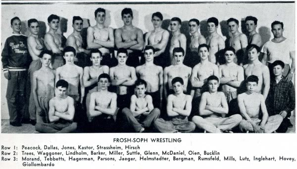 Donald Rumsfield on wrestling team