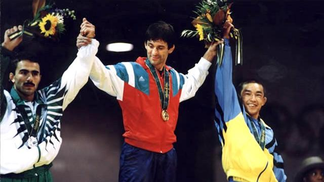 Valentin Yordanov on podium Atlanta 1996